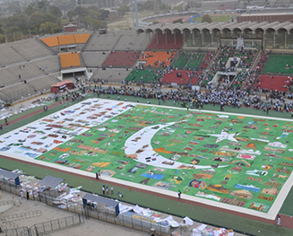 World's Largest Painting of National Flag